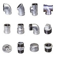 Galvanized, Malleable Iron Pipe Fittings