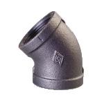 Galvanized & Black Malleable Iron Pipe Fittings 45 Deg Elbow