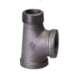 Galvanized & Black Malleable Iron Pipe Fittings Service Tee