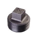 Galvanized & Black Malleable Iron Pipe Fittings Plug
