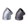 Galvanized & Black Malleable Iron Pipe Fittings 45 Deg Elbow