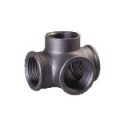 Galvanized & Black Malleable Iron Pipe Fittings Side Outlet Tee
